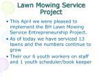 lawn mowing service project
