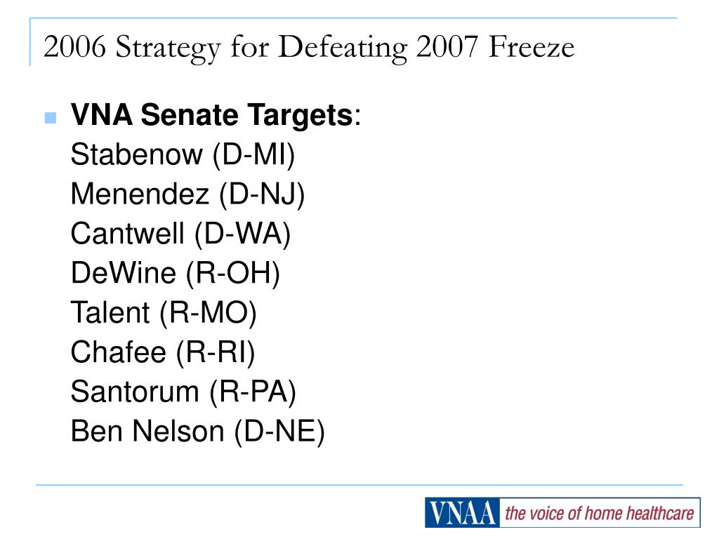 2006 strategy for defeating 2007 freeze l.