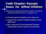 cobb chapter georgia assoc for gifted children