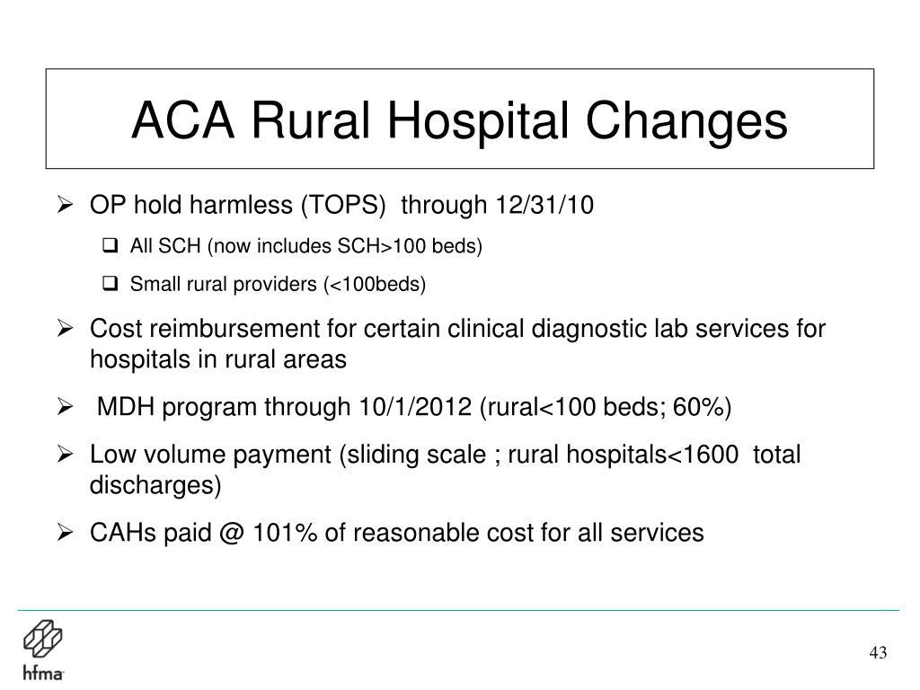 ACA Rural Hospital Changes