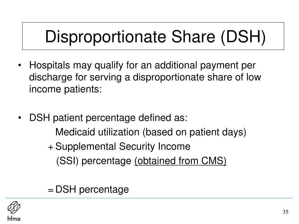 Disproportionate Share (DSH)
