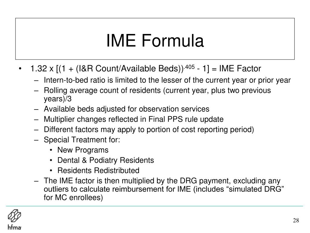 IME Formula