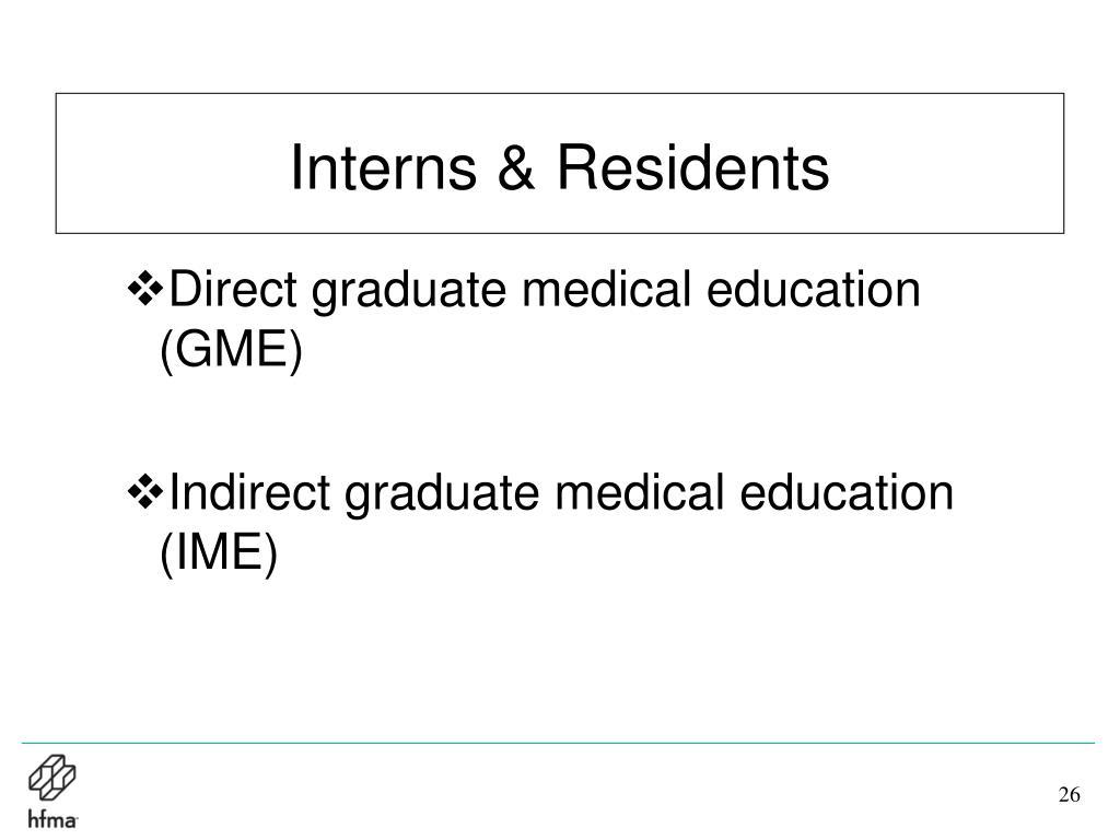 Interns & Residents