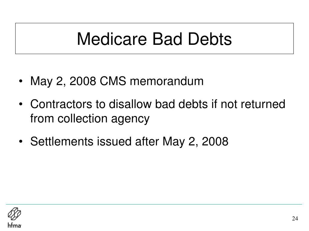 Medicare Bad Debts