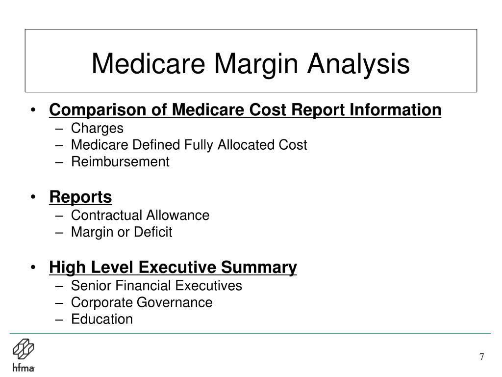 Medicare Margin Analysis