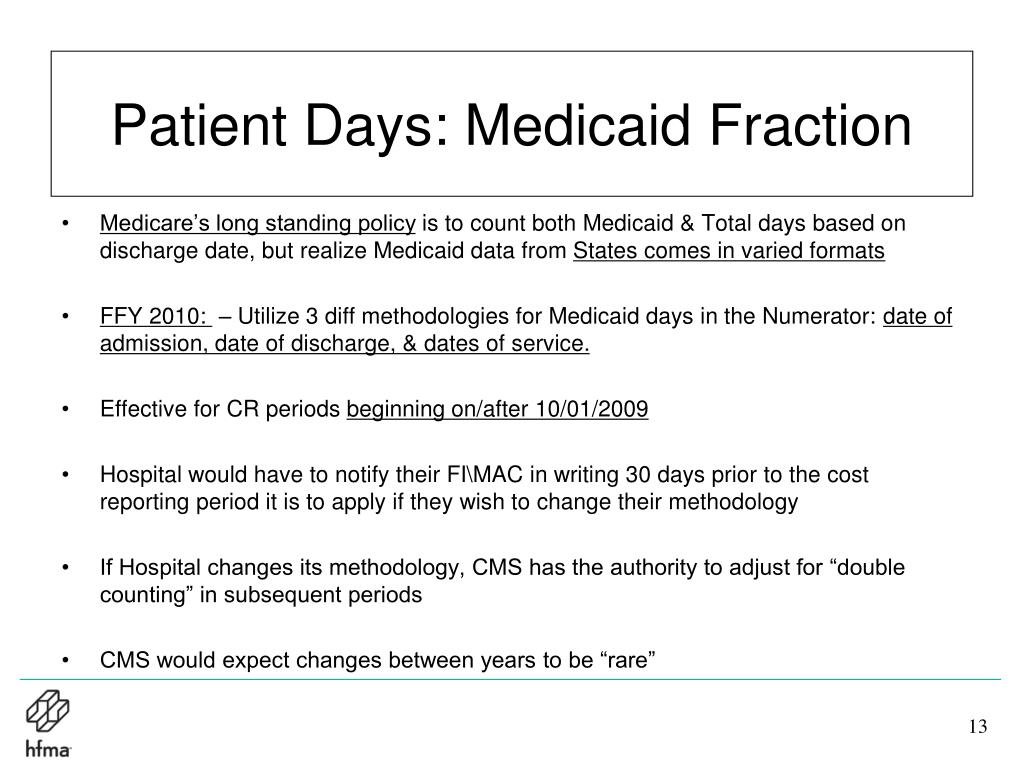Patient Days: Medicaid Fraction