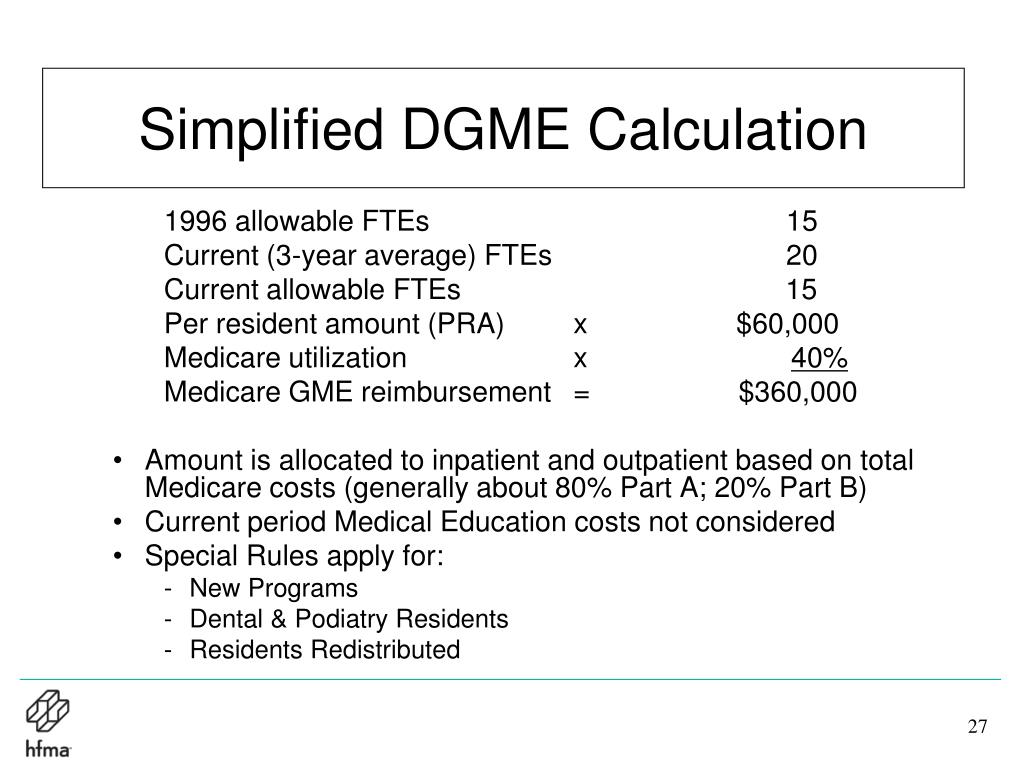 Simplified DGME Calculation