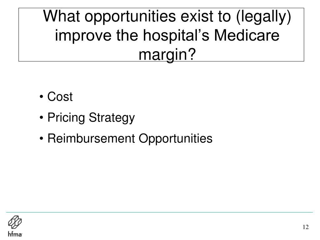 What opportunities exist to (legally) improve the hospital's Medicare margin?