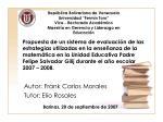 autor frank carlos morales tutor elio rosales