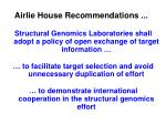 airlie house recommendations