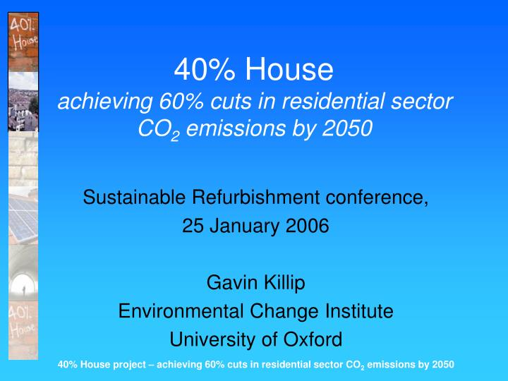 40 house achieving 60 cuts in residential sector co 2 emissions by 2050 n.
