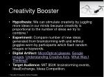 creativity booster