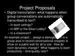 project proposals22