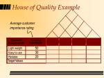 house of quality example48