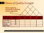 house of quality example49