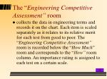 the engineering competitive assessment room