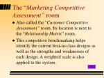 the marketing competitive assessment room