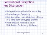 conventional encryption key distribution
