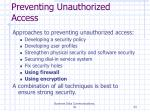 preventing unauthorized access24