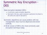 symmetric key encryption des