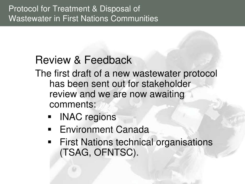 Protocol for Treatment & Disposal of Wastewater in First Nations Communities