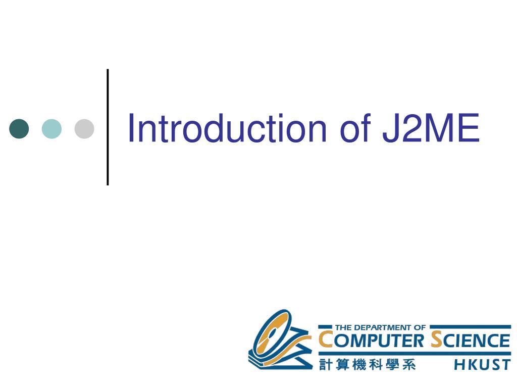 introduction of j2me l.