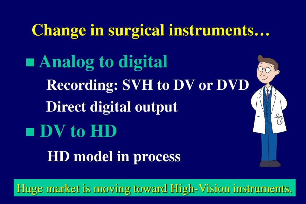 Change in surgical instruments…