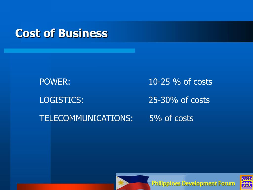 Cost of Business