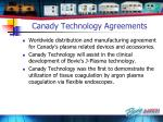 canady technology agreements