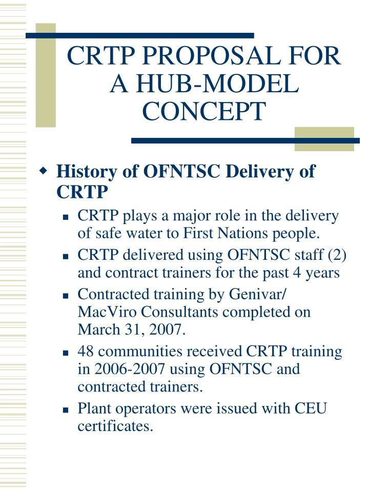 Crtp proposal for a hub model concept2