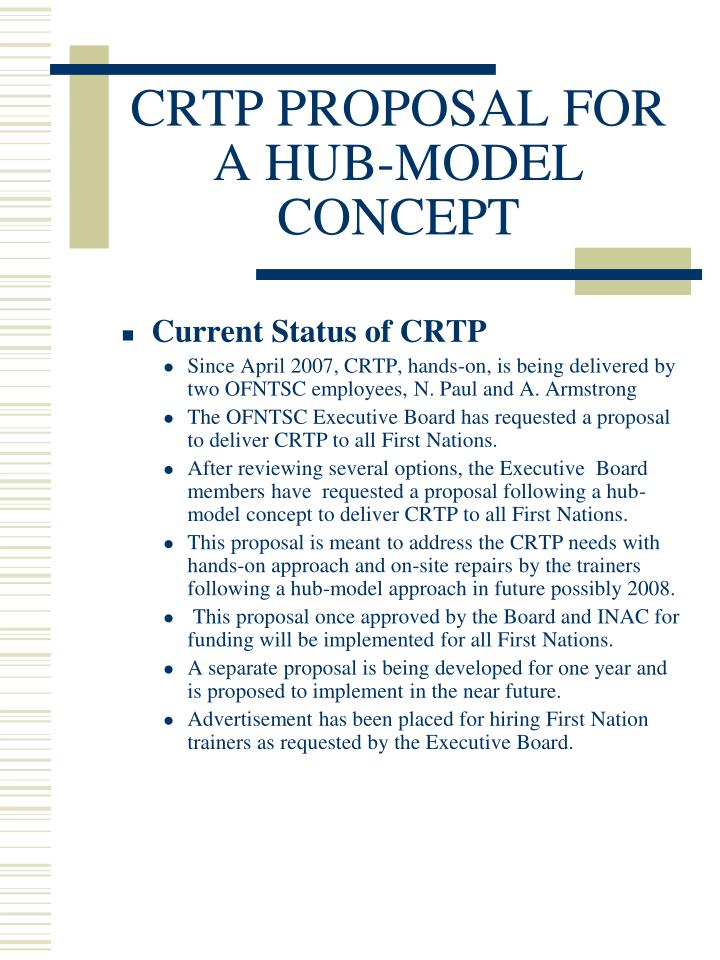 Crtp proposal for a hub model concept3