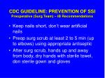 cdc guideline prevention of ssi preoperative surg team ib recommendations