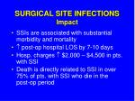 surgical site infections impact