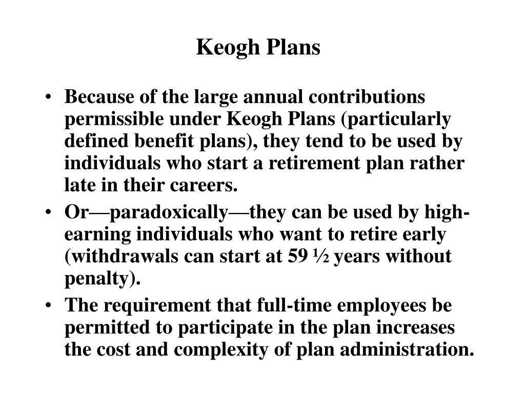 Keogh Plans