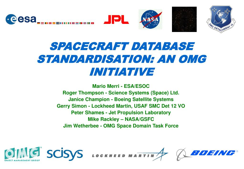spacecraft database standardisation an omg initiative l.
