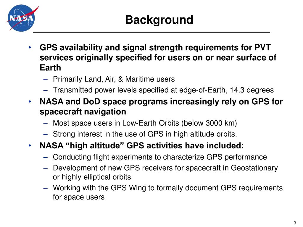 PPT - GPS Space Service Volume Increasing the Utility of GPS