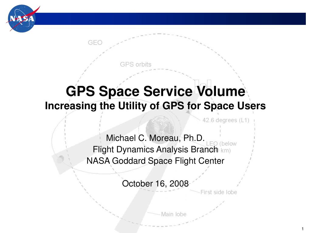 gps space service volume increasing the utility of gps for space users l.