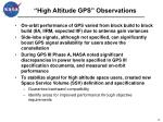 high altitude gps observations