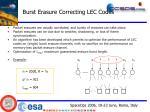 burst erasure correcting lec codes
