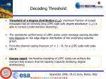 decoding threshold