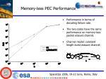 memory less pec performance20
