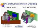 omi instrument proton shielding