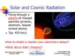 solar and cosmic radiation