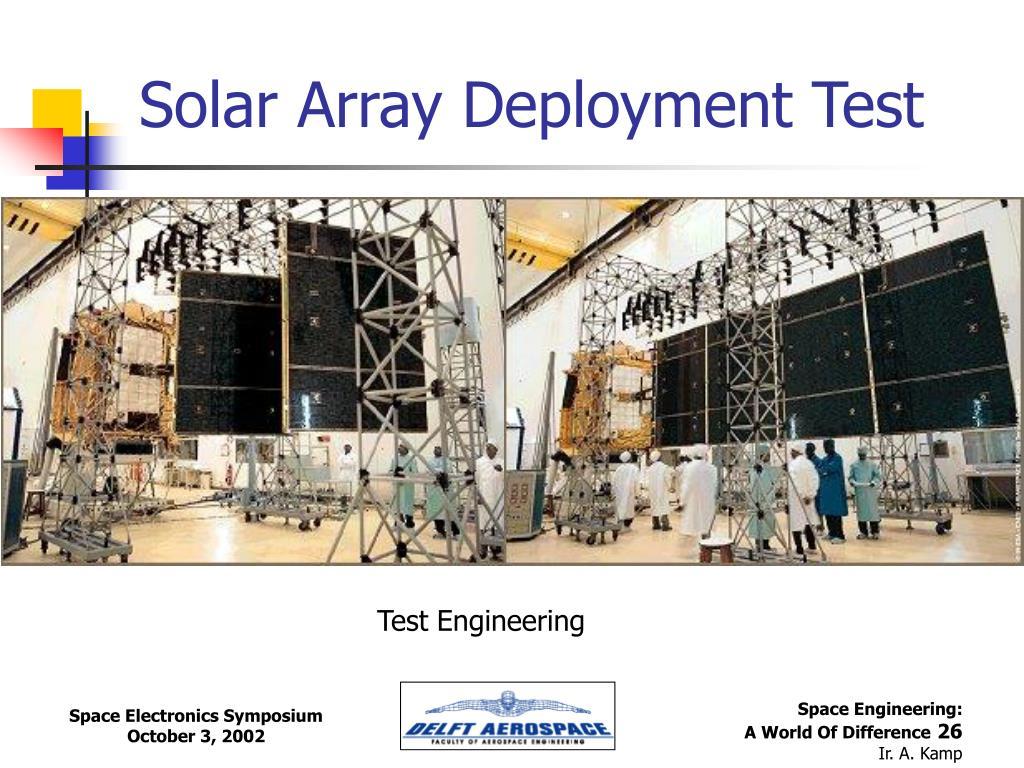 Solar Array Deployment Test