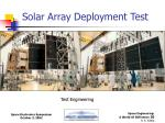 solar array deployment test