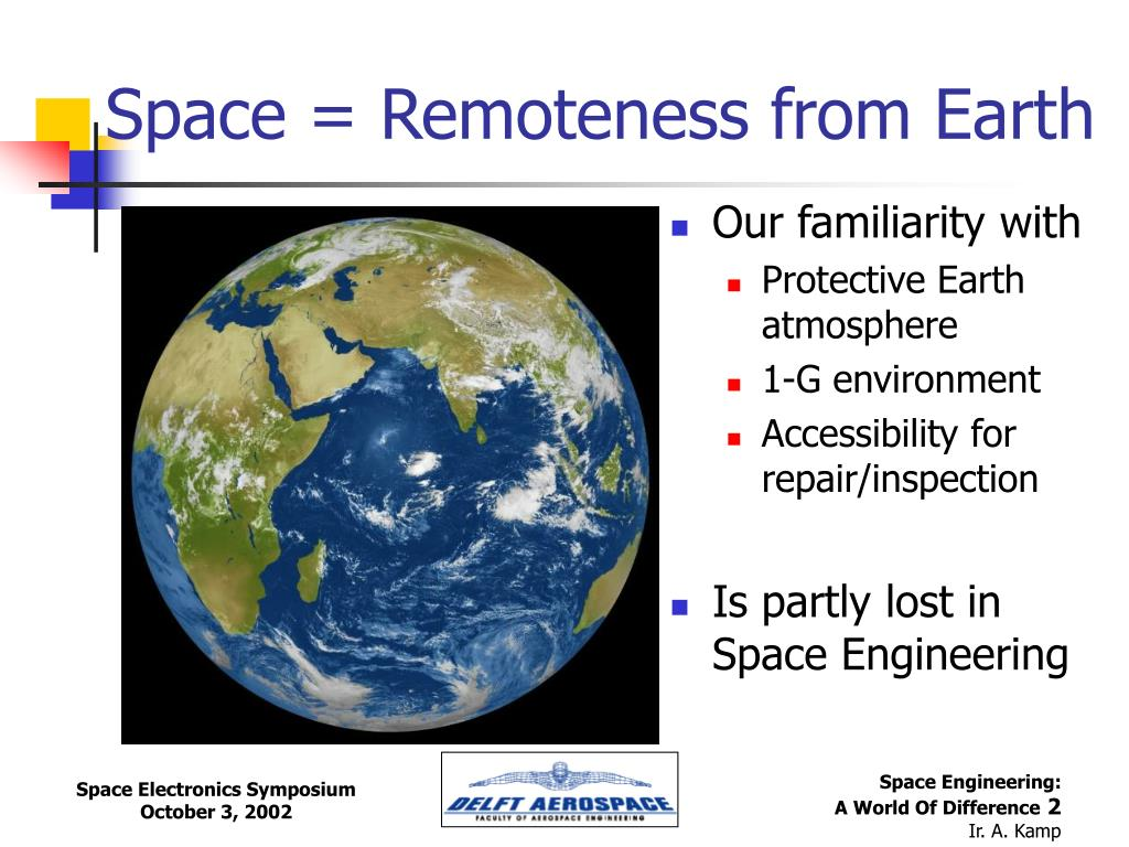 Space = Remoteness from Earth