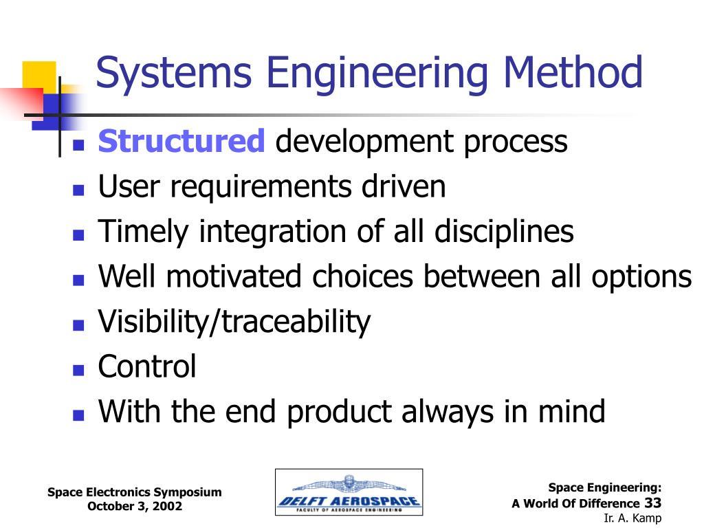 Systems Engineering Method