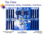 top class complexity safety availability interfaces