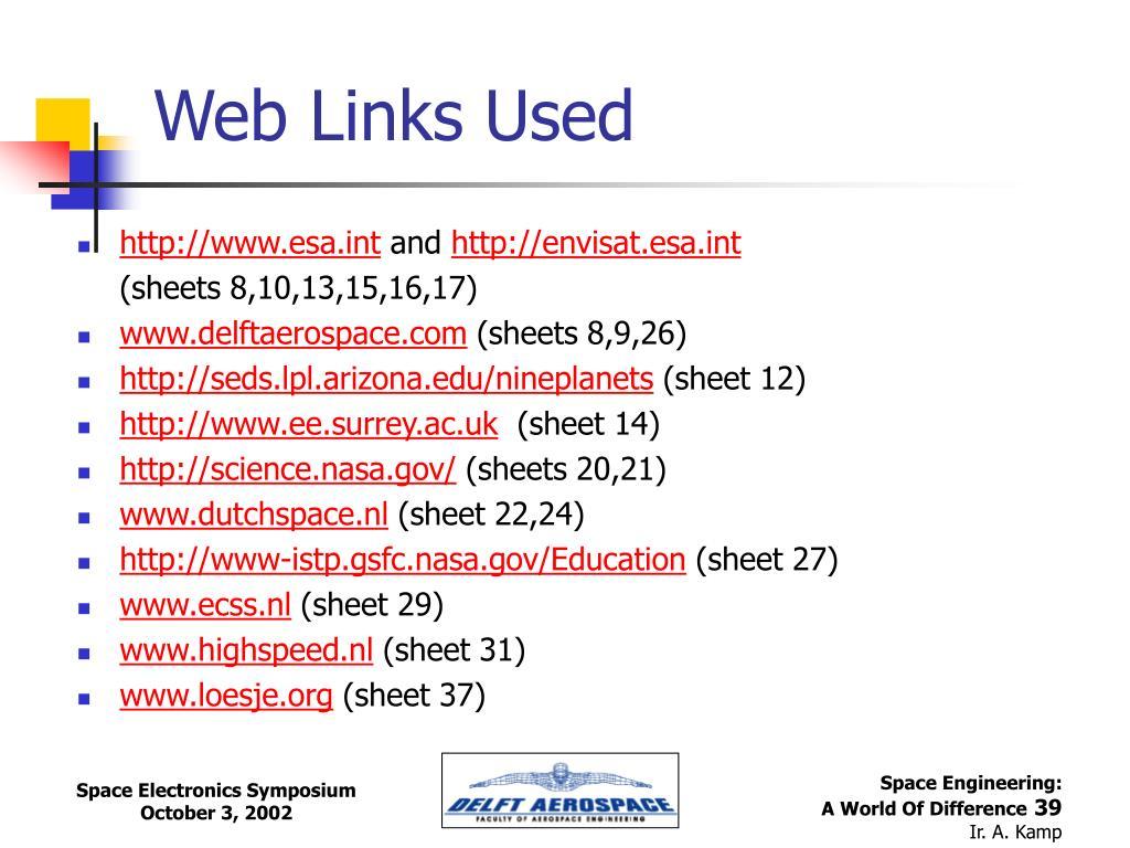 Web Links Used