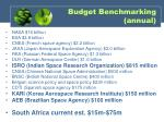 budget benchmarking annual
